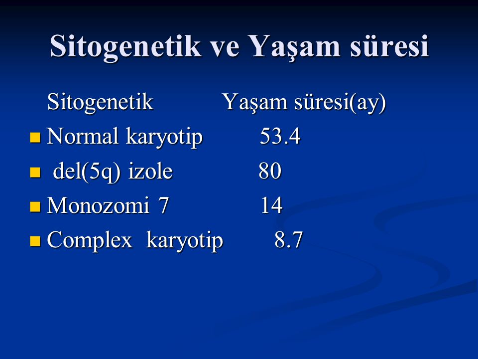Sitogenetik ve Yaşam süresi