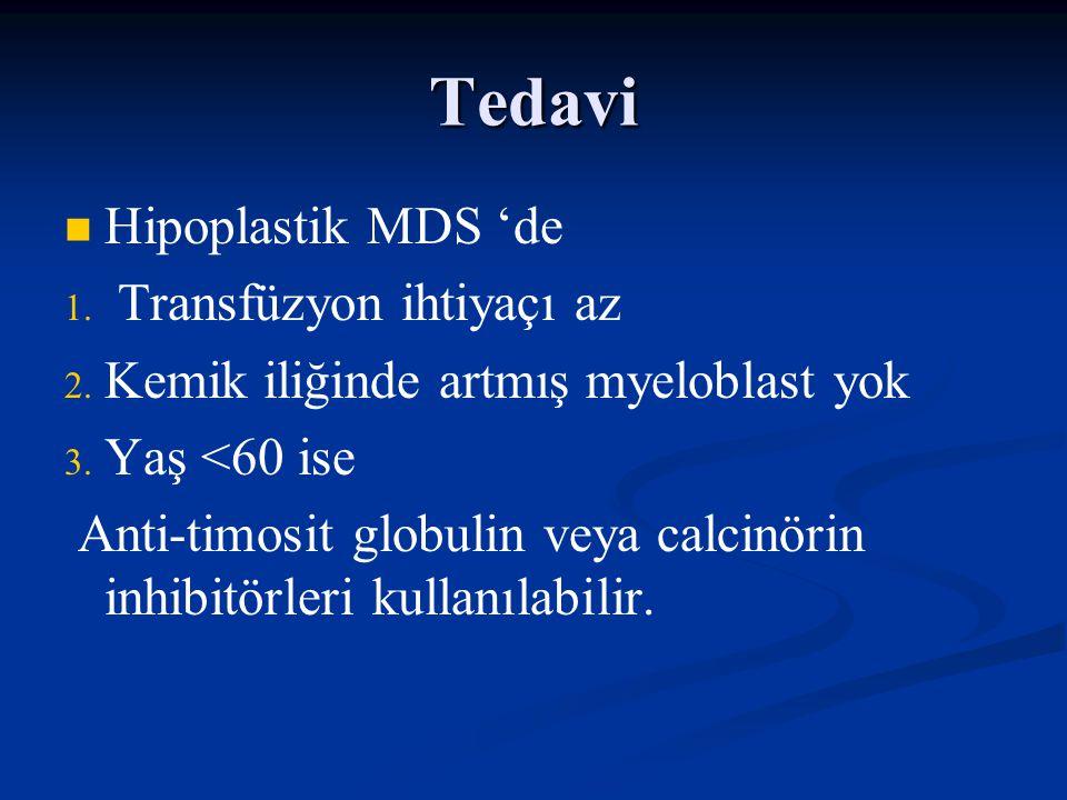 Tedavi Hipoplastik MDS 'de Transfüzyon ihtiyaçı az