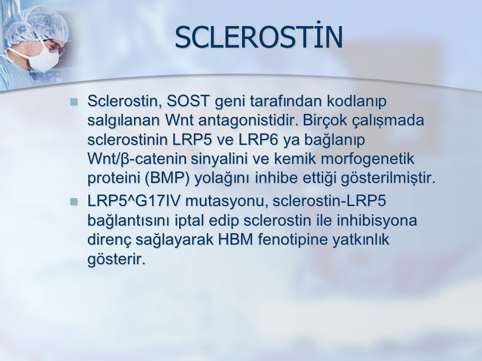 SCLEROSTİN