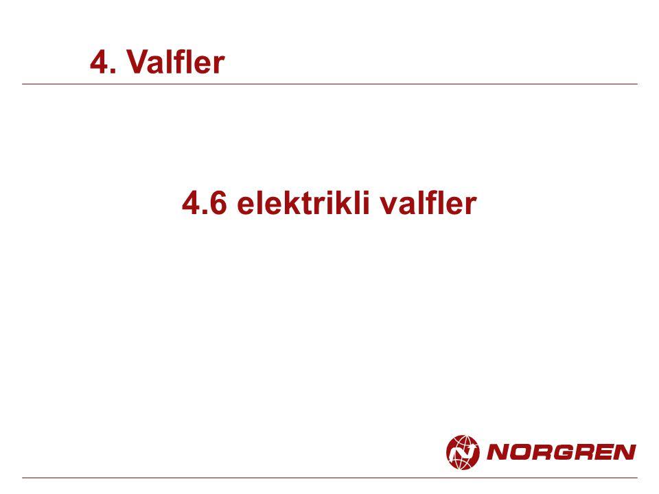 4. Valfler 4.6 elektrikli valfler