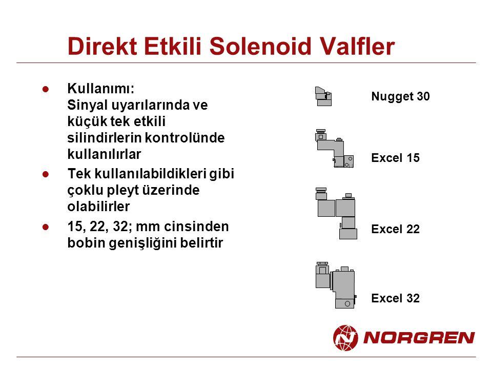 Direkt Etkili Solenoid Valfler