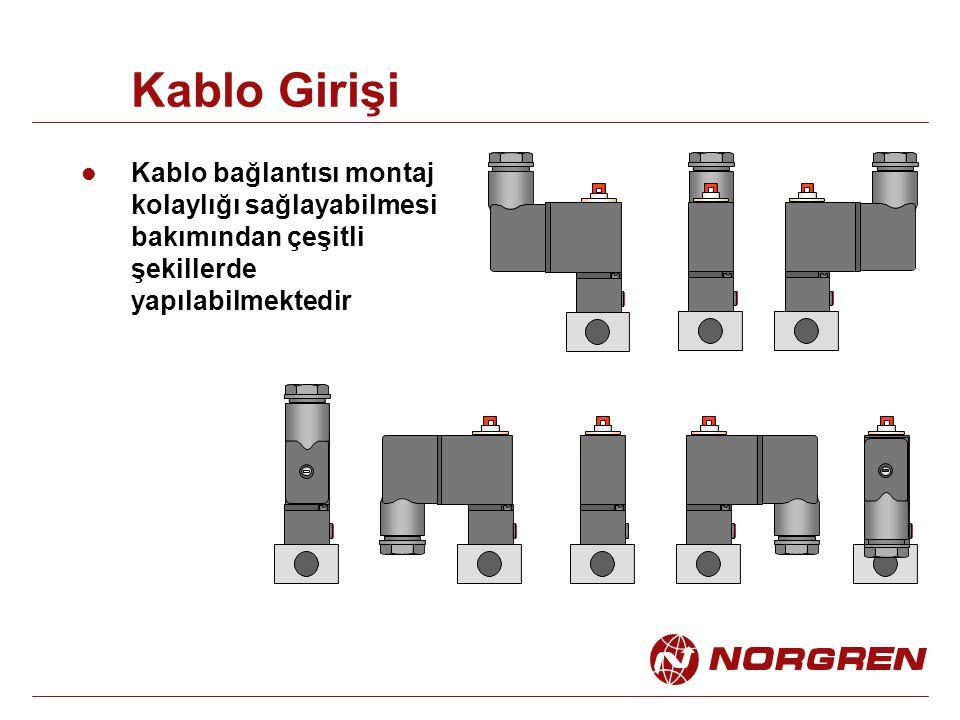 Kablo Girişi Kablo bağlantısı montaj kolaylığı sağlayabilmesi bakımından çeşitli şekillerde yapılabilmektedir.