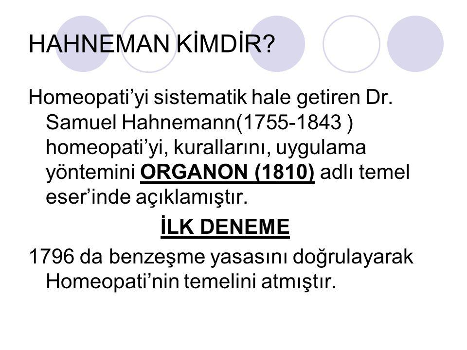 HAHNEMAN KİMDİR