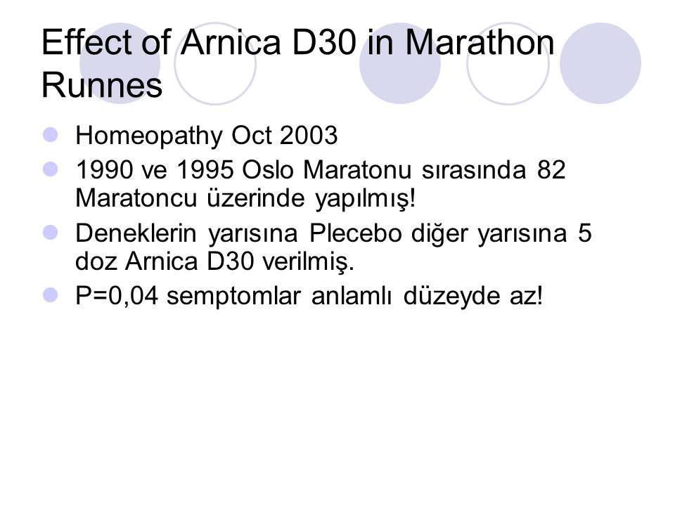 Effect of Arnica D30 in Marathon Runnes