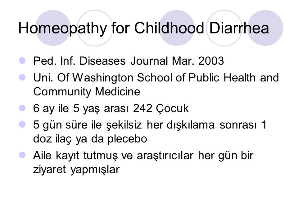 Homeopathy for Childhood Diarrhea