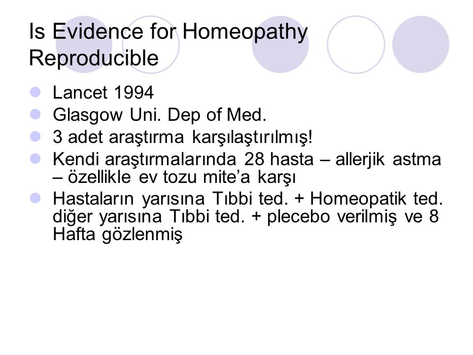 Is Evidence for Homeopathy Reproducible