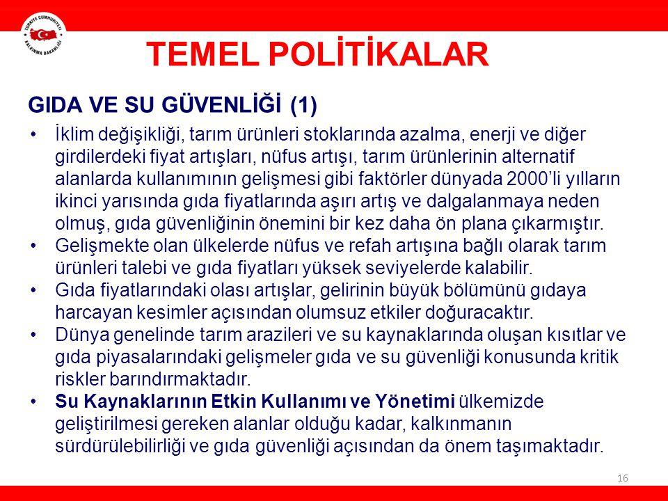 TEMEL POLİTİKALAR GIDA VE SU GÜVENLİĞİ (1)