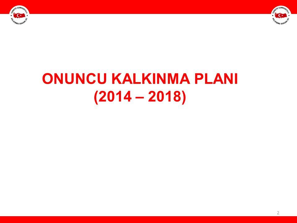 ONUNCU KALKINMA PLANI (2014 – 2018)