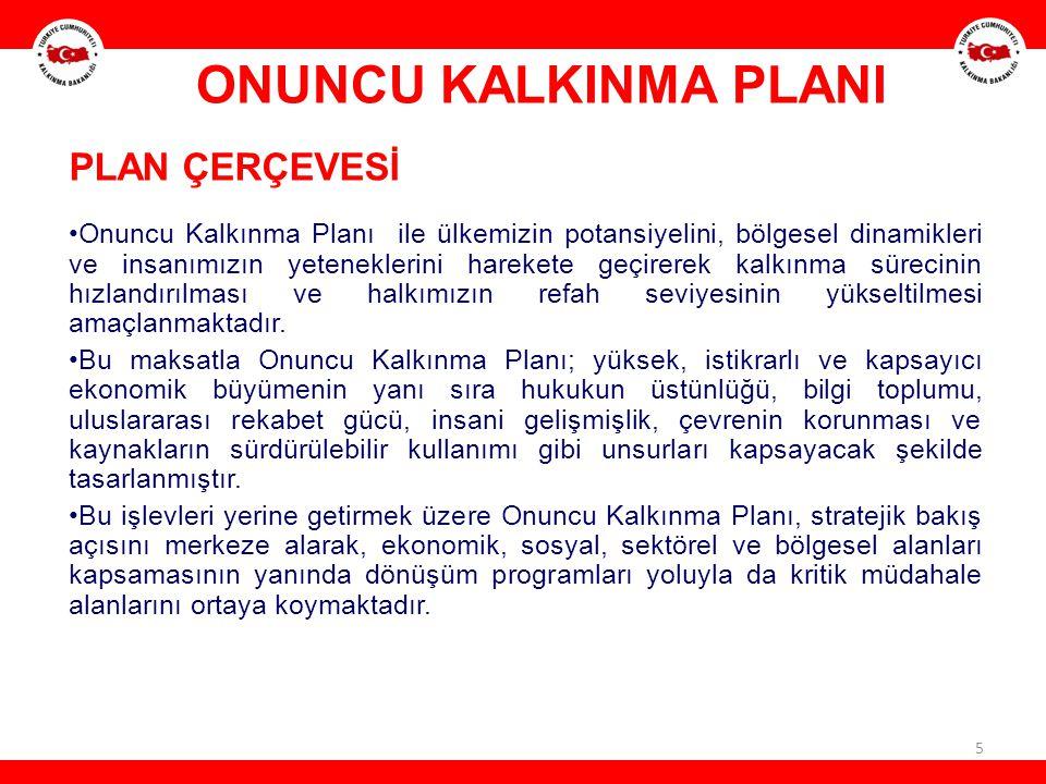 ONUNCU KALKINMA PLANI PLAN ÇERÇEVESİ