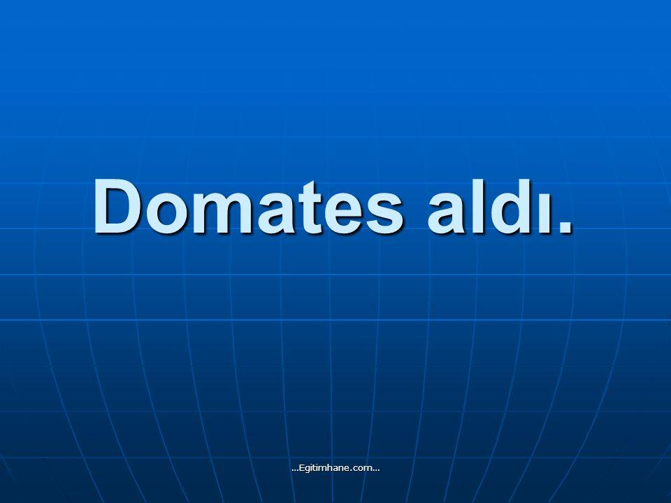 Domates aldı. …Egitimhane.com…