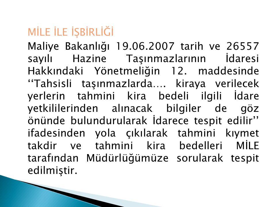 MİLE İLE İŞBİRLİĞİ Maliye Bakanlığı 19. 06