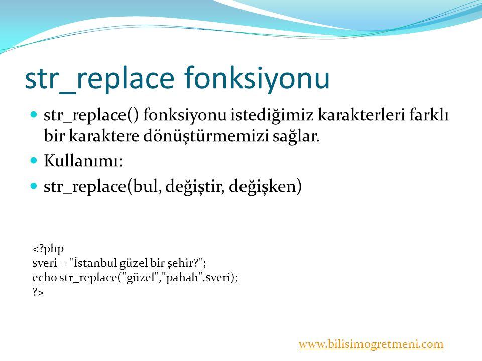 str_replace fonksiyonu