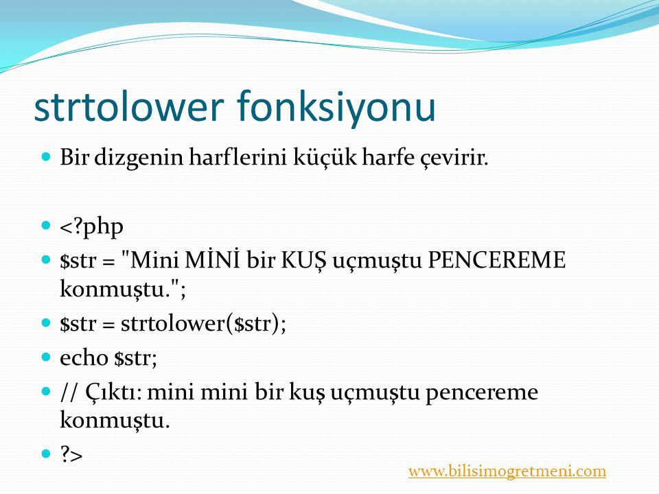 strtolower fonksiyonu