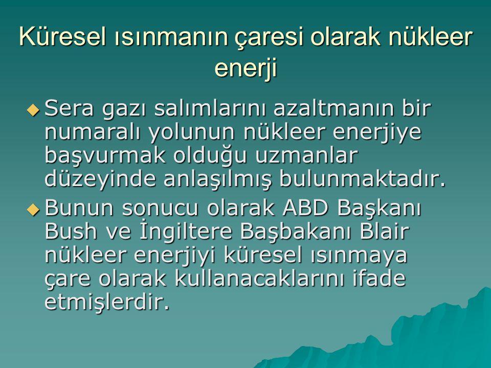 Küresel ısınmanın çaresi olarak nükleer enerji