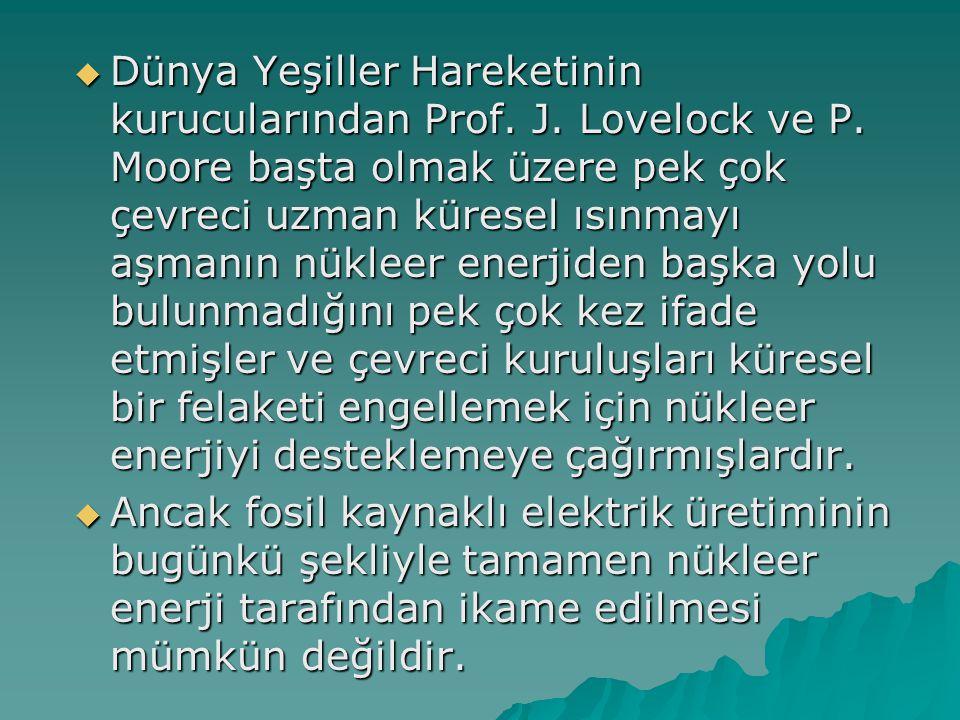 Dünya Yeşiller Hareketinin kurucularından Prof. J. Lovelock ve P