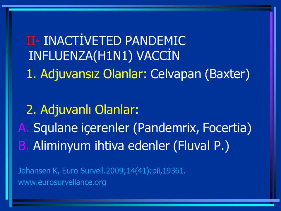 II- INACTİVETED PANDEMIC INFLUENZA(H1N1) VACCİN