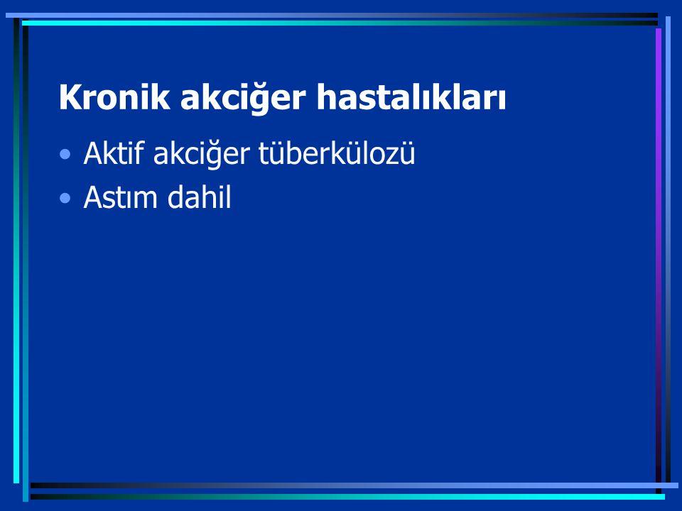 Kronik akciğer hastalıkları