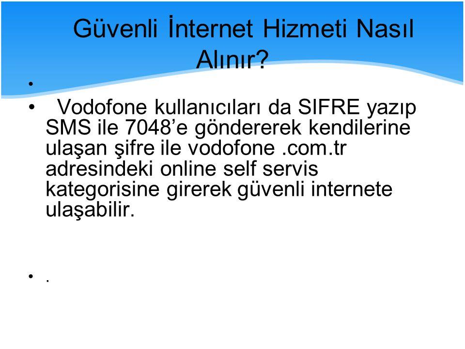 Güvenli İnternet Hizmeti Nasıl Alınır