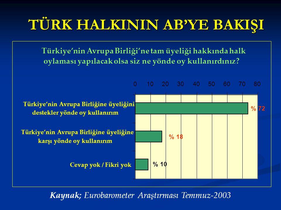 TÜRK HALKININ AB'YE BAKIŞI