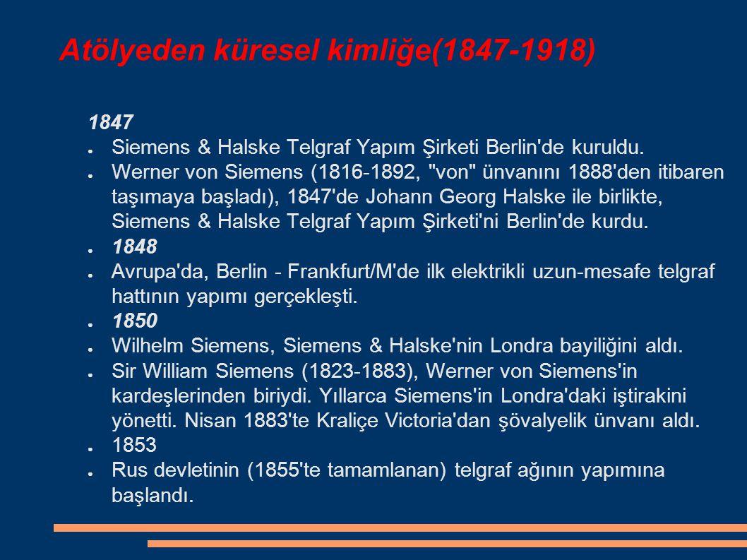 Atölyeden küresel kimliğe(1847-1918)