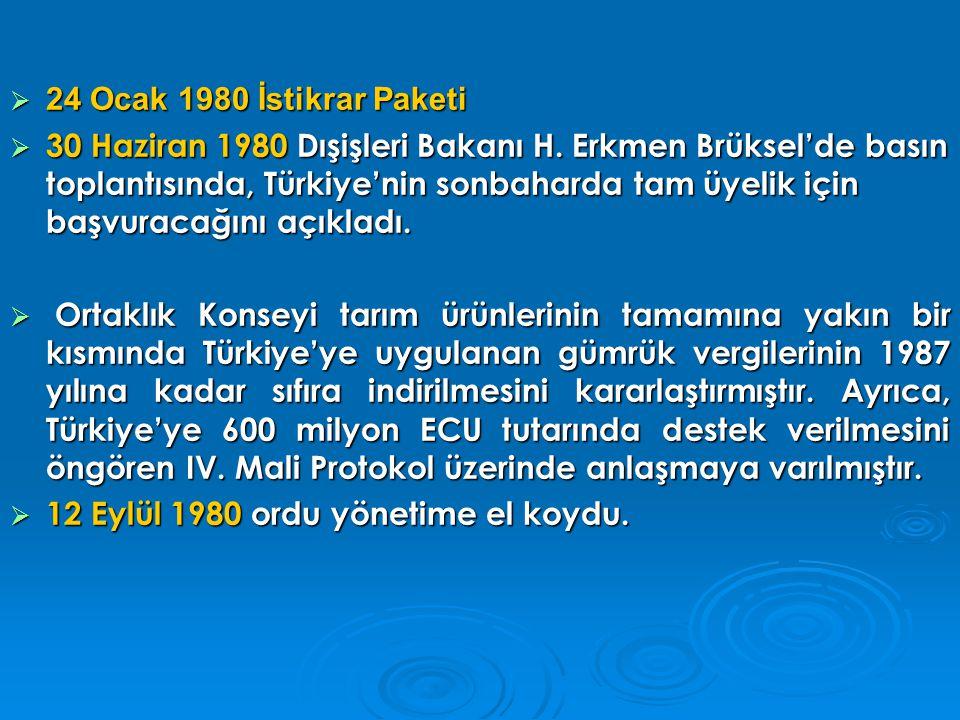 24 Ocak 1980 İstikrar Paketi