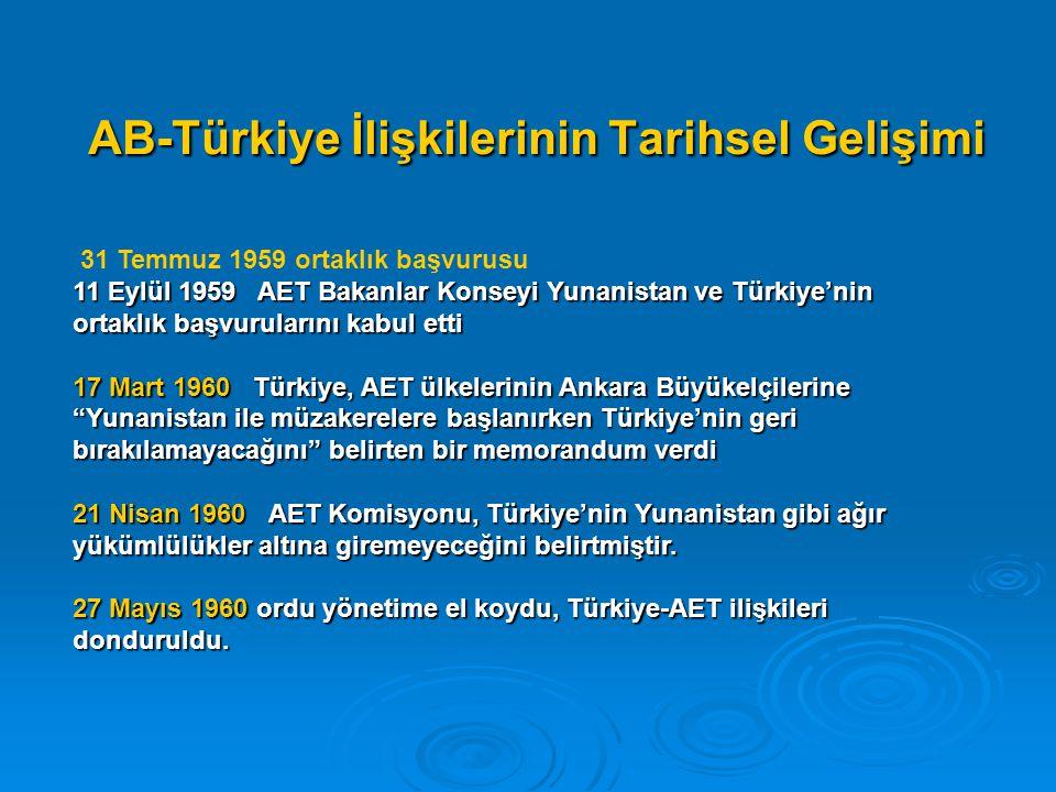 AB-Türkiye İlişkilerinin Tarihsel Gelişimi