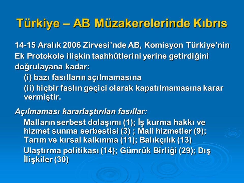 Türkiye – AB Müzakerelerinde Kıbrıs