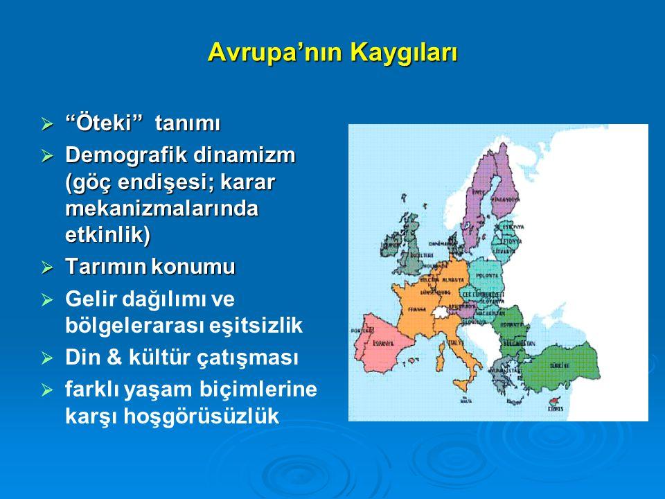Avrupa'nın Kaygıları Öteki tanımı