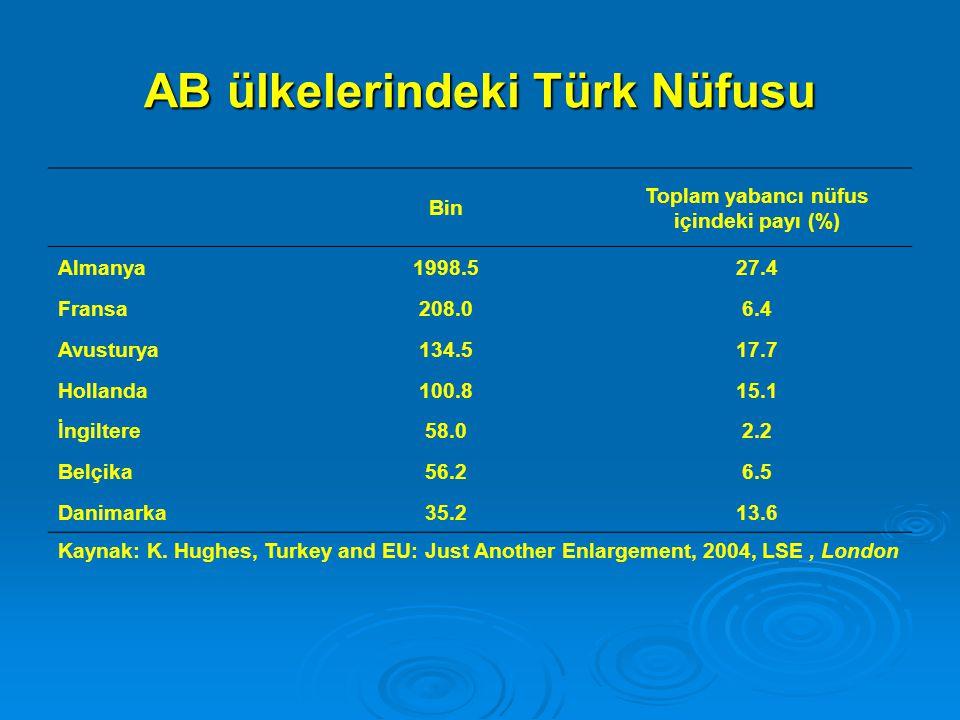 AB ülkelerindeki Türk Nüfusu