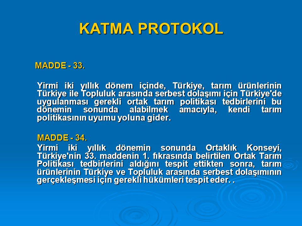 KATMA PROTOKOL MADDE - 33.