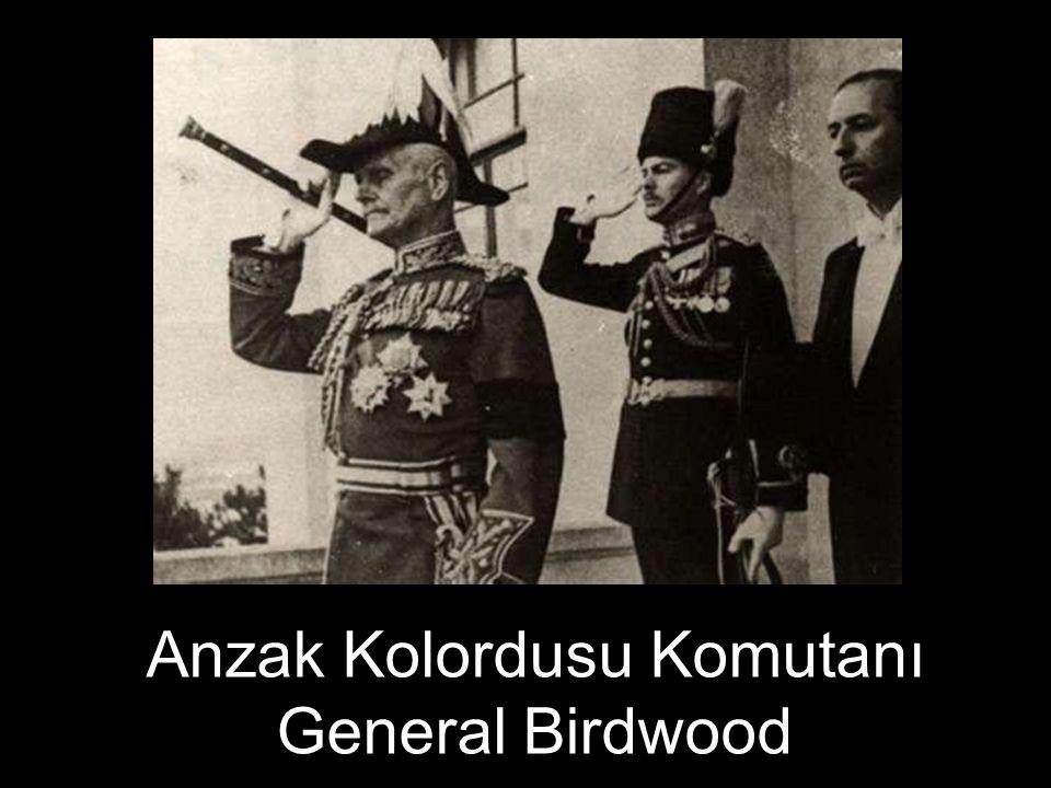 Anzak Kolordusu Komutanı General Birdwood