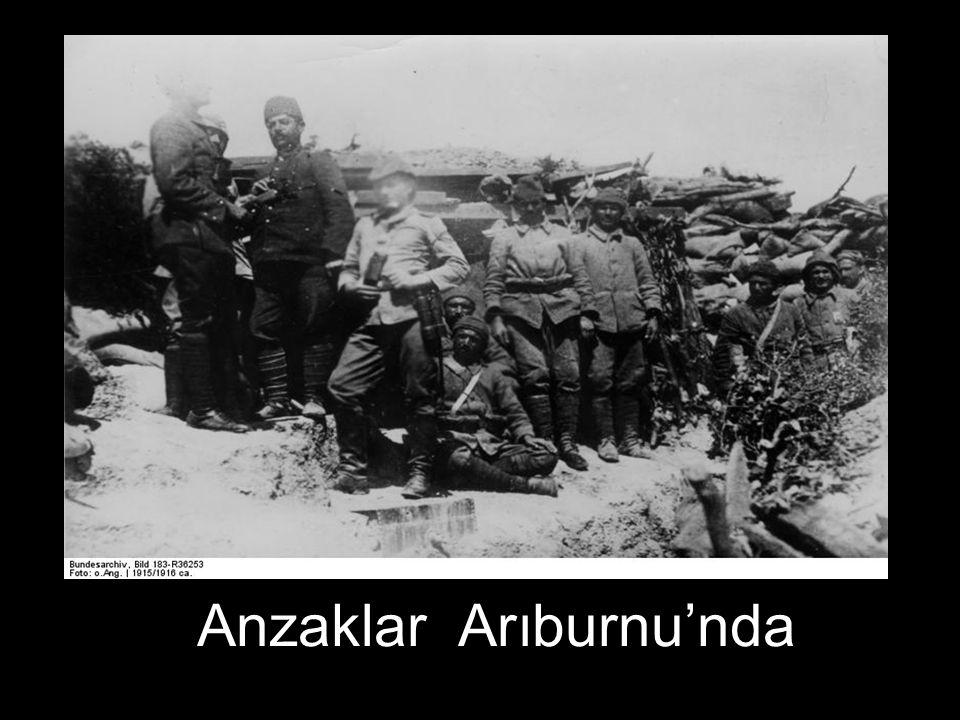 Anzaklar Arıburnu'nda
