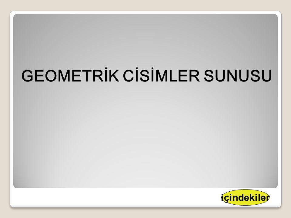 GEOMETRİK CİSİMLER SUNUSU