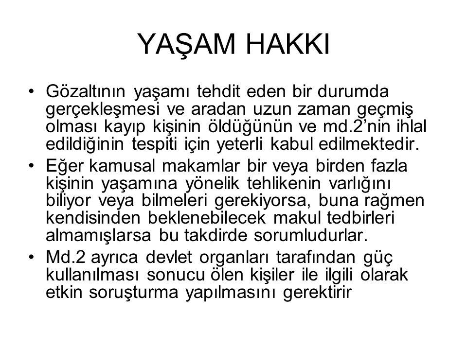 YAŞAM HAKKI