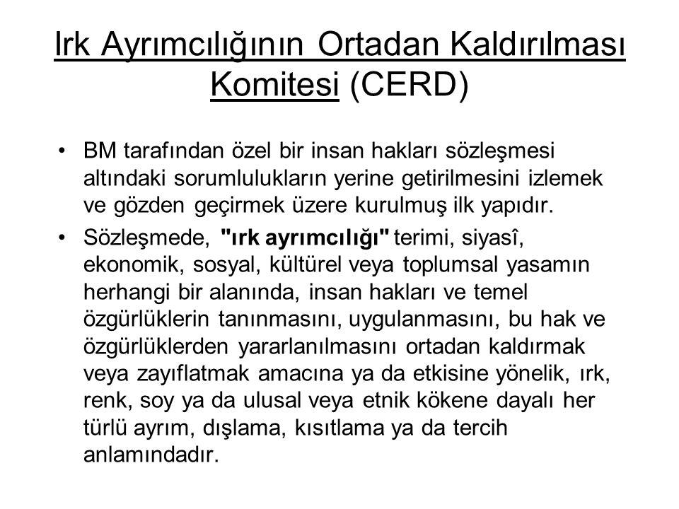 Irk Ayrımcılığının Ortadan Kaldırılması Komitesi (CERD)
