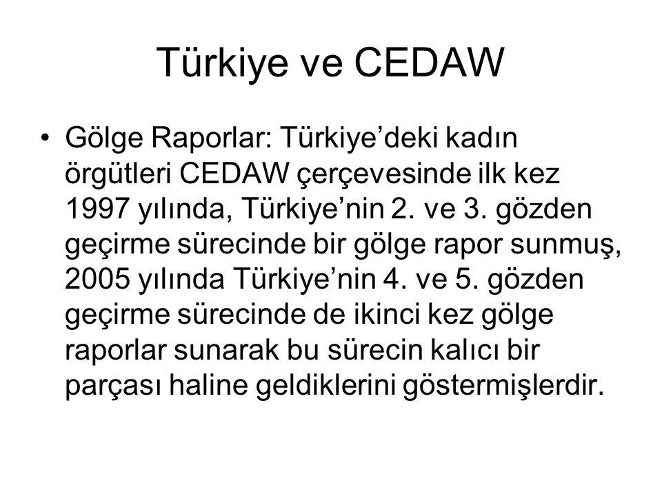 Türkiye ve CEDAW