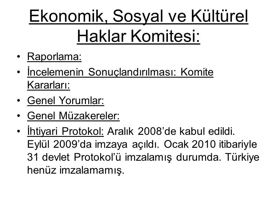 Ekonomik, Sosyal ve Kültürel Haklar Komitesi: