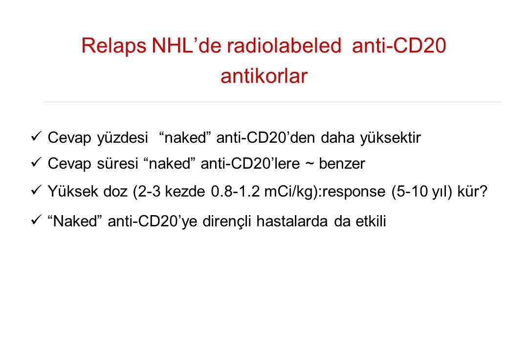 Relaps NHL'de radiolabeled anti-CD20 antikorlar