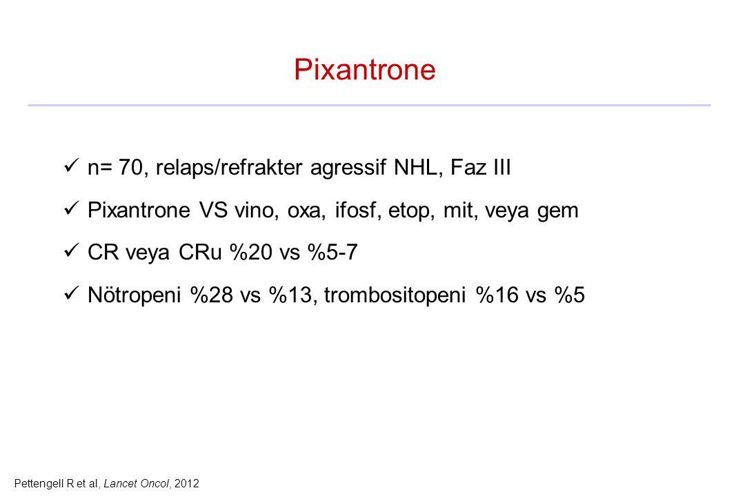 Pettengell R et al, Lancet Oncol, 2012