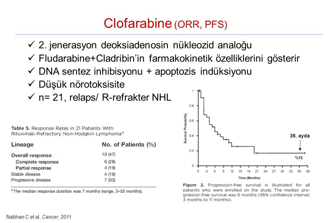 Clofarabine (ORR, PFS) 2. jenerasyon deoksiadenosin nükleozid analoğu