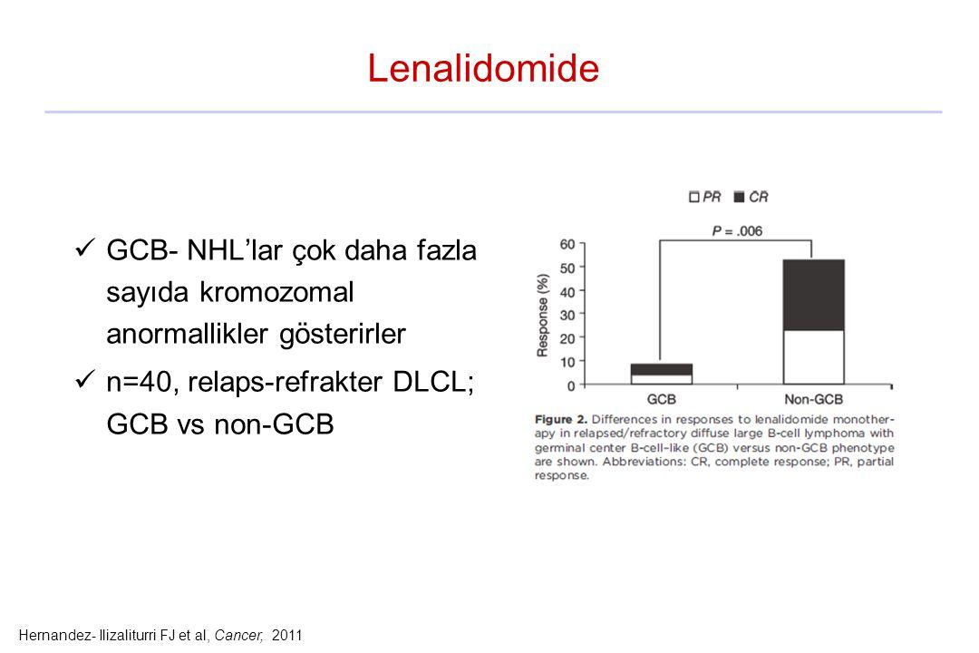 Hernandez- Ilizaliturri FJ et al, Cancer, 2011