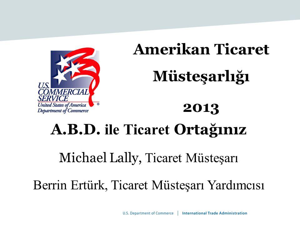Amerikan Ticaret Müsteşarlığı 2013