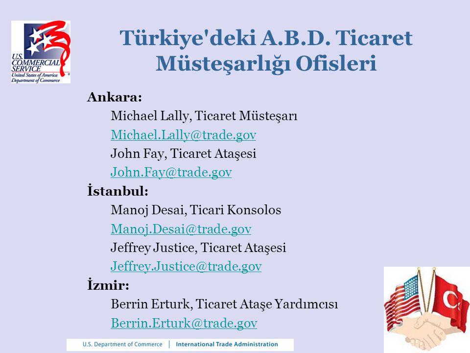 Türkiye deki A.B.D. Ticaret Müsteşarlığı Ofisleri