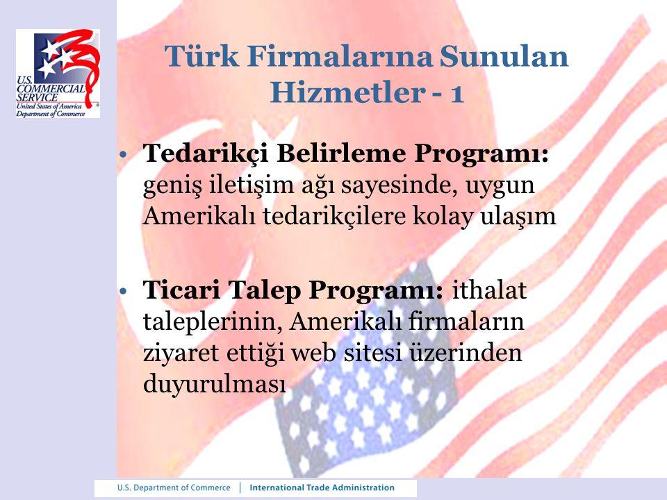 Türk Firmalarına Sunulan Hizmetler - 1