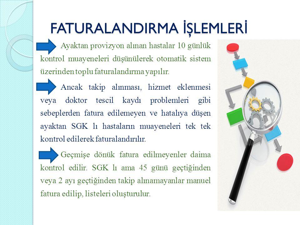 FATURALANDIRMA İŞLEMLERİ