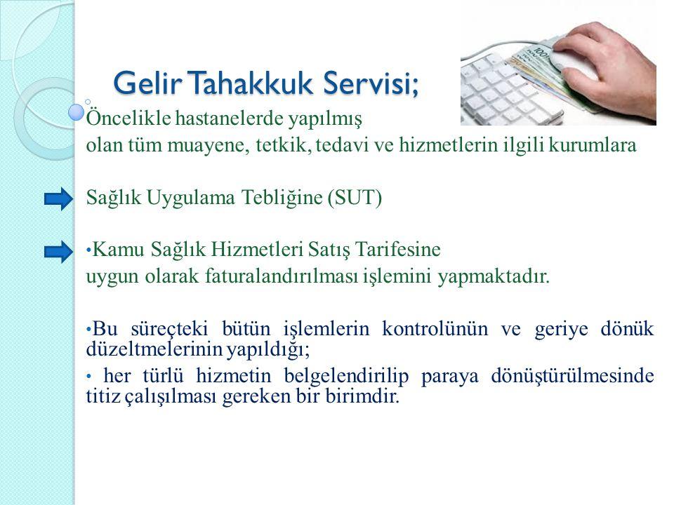 Gelir Tahakkuk Servisi;