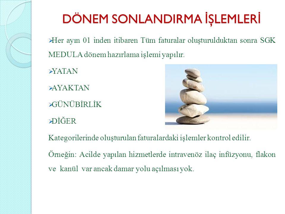 DÖNEM SONLANDIRMA İŞLEMLERİ