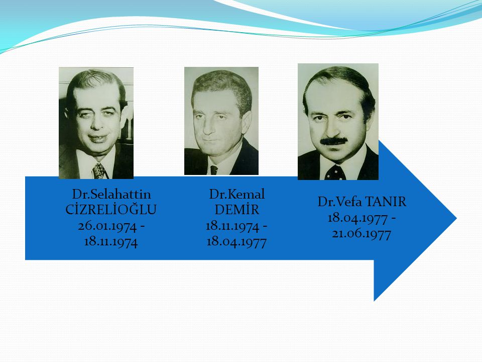 Dr.Selahattin CİZRELİOĞLU 26.01.1974 - 18.11.1974