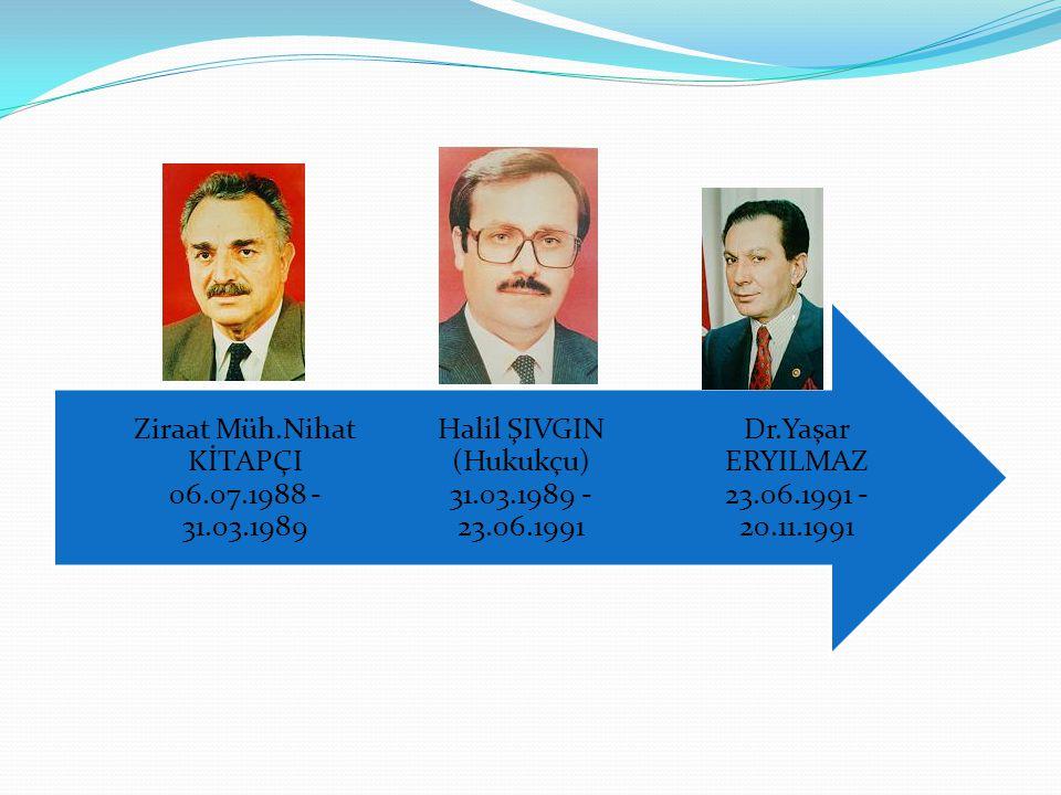 Halil ŞIVGIN (Hukukçu) 31.03.1989 - 23.06.1991