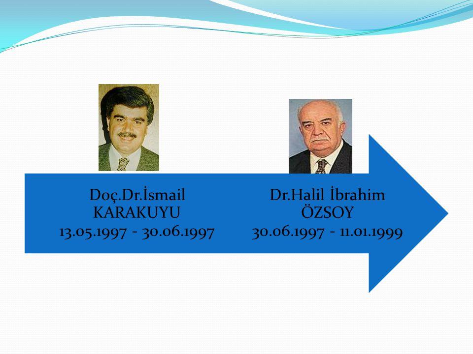 Dr.Halil İbrahim ÖZSOY 30.06.1997 - 11.01.1999